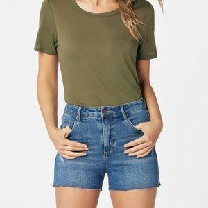NWT JustFab High Rise Denim Shorts